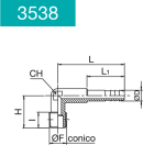 ELBOW HOSE CONNECTOR 90° MALE LONG SERIES