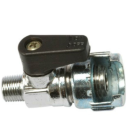 MINI BALL VALVE MALE CONICAL BAYONET+MILLED NUT